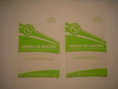 * 2 America The Beautiful Hangtags For Holding The National Parks Pass