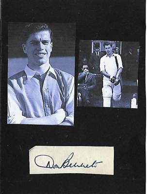 Signed Don Bennett 1933-2014 Middlesex MCC Arsenal Coventry City England 1950s