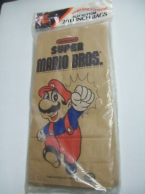 Nintendo-Super Mario Bros-Lunch Bags (1990)-New-Never Opened!!