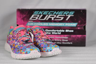 6ec67cf2fc1e YOUTH GIRL S SKECHERS Burst-Emoji Cutie Sneakers Multi -  18.85 ...