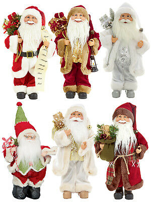 40cm Standing Santa Decoration Ornaments Xmas Father Christmas Claus Traditional