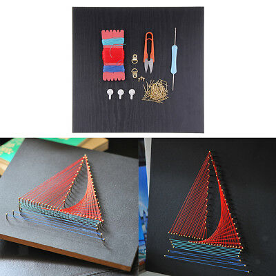 Vintage Ship String Art Crafts Kit for Kids/Adults Handmade Boat Painting