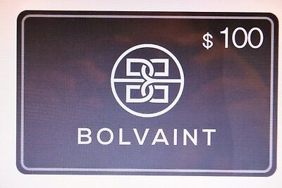 $100.00 Gift Card to BOLVIANT  FREE SHIPPING