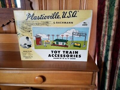 Plasticville Complete Train Station Set Mint and Still in Box 1959 Never Opened