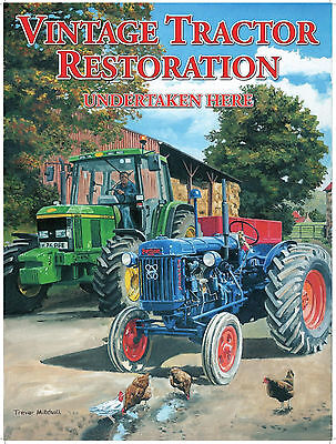 New 15x20cm Ford /& Fordson Tractor reproduction vintage metal advertising sign