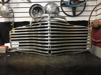 1941 Chevrolet Grille, Original one piece stamped, chrome