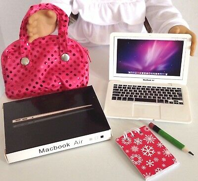 Laptop Computer for American Girl Doll 18 inch Accessories Fit SET