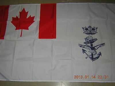 British Empire Flag of the Naval Jack of Canada Navy Canadian White Ensign 3X5ft