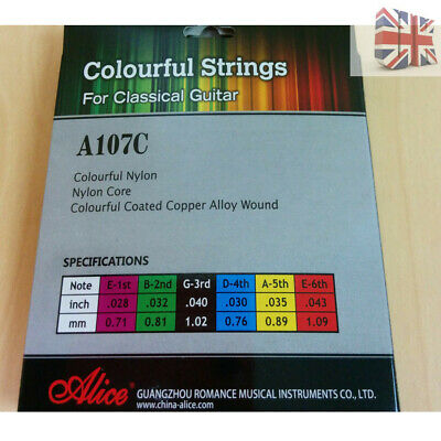 New Set of 6 Replacement Steel Acoustic Classic Guitar Strings Light Gauge UK