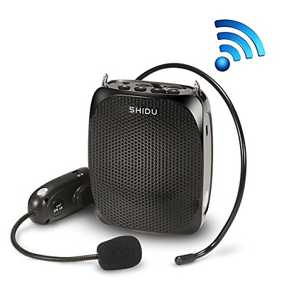 Wireless SHIDU Voice Amplifier With Headset Support USB SD Card MP3 Format Audio