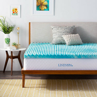 Linenspa 2 and 3 Inch Gel Convolution Memory Foam Mattress Topper - Twin Queen