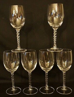 "Cristal d'Arques ANGELIQUE 6-7/8"" Set of 6 Sherry Wine Glasses Crystal"