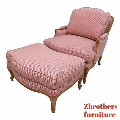 Ethan Allen Legacy Country French Lounge Chair And Ottoman Living Room