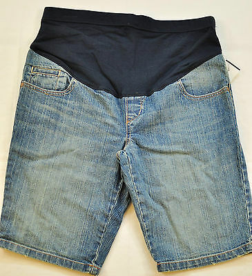 Women's Old Navy Maternity Shorts Size 4 Blue Jean Shorts Wide Tummy Band New!