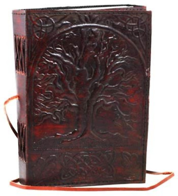 Magical Vintage Large Tree of Life Leather Blank Book Diary Journal 200 Pages