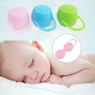 Baby Infant Pacifier Box Case Holder Portable Soother Container Travel Storage /