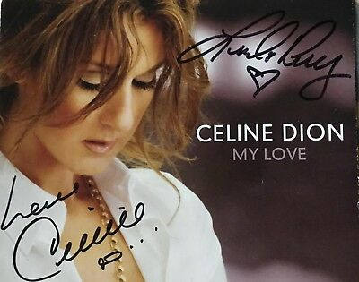 'My Love' UK CD single, signed By Celine Dion & Linda Perry (Rare).