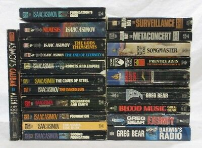 Science Fiction book lot of 21 - Isaac Asimov, Greg Bear, Orson Scott Card