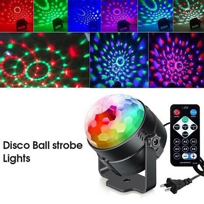 Party Disco Lights Strobe Led Dj Ball Sound Activated Dance Lamp Decoration AN