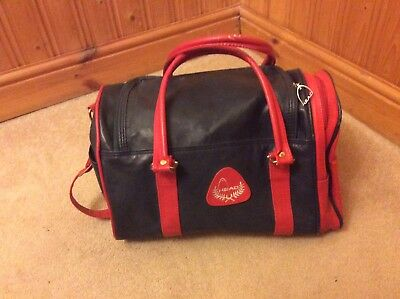 retro head bag Sports Holdall Navy And Red
