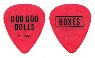 Goo Goo Dolls John Rzeznik Boxes Red Guitar Pick - 2016 Boxes Tour