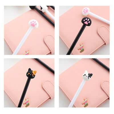 4Pcs/lot Kawaii Cat Gel Pen Lovely Claw Black Ink Pens for Writing Stationery