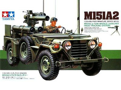Tamiya 35125 US Army M151A2 & TOW Missile 1/35 Scale Plastic Model Kit