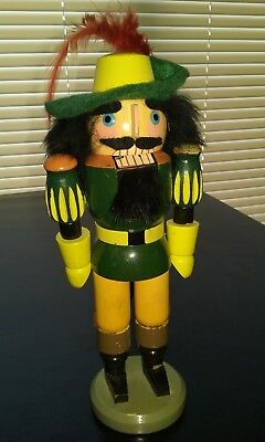VINTAGE GERMAN NUTCRACKER ORIGINAL Erzgebirge 9""