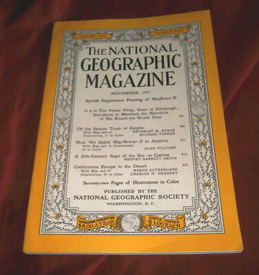 THE NATIONAL GEOGRAPHIC MAGAZINE. November 1957. Fully Illustrated No Supplement