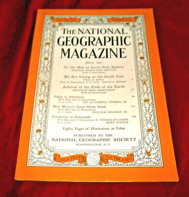 THE NATIONAL GEOGRAPHIC MAGAZINE. July 1957. Fully Illustrated.
