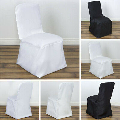 Enjoyable 75 Pcs Square Top Polyester Banquet Chair Covers Wholesale Creativecarmelina Interior Chair Design Creativecarmelinacom