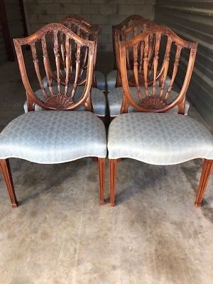 Antique Style Mahogany Dining Table and 6 Chairs Federal Style