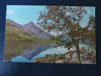 Postcard 1972 ,  Lock Leven towards the Pap of Glencoe