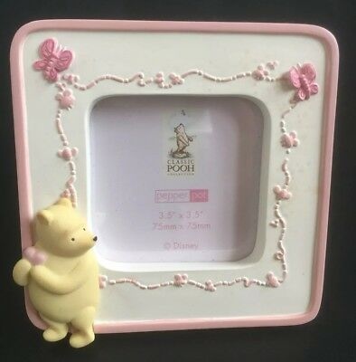 """Classic Pooh Collection Butterfly Photo Frame 3.5 x 3.5"""" (75mm x 75mm) BNIB"""