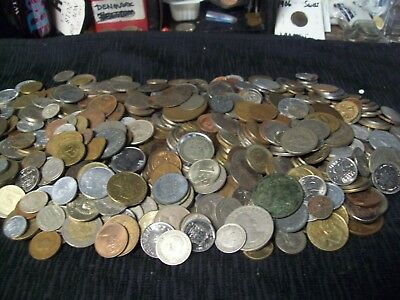 WORLD COINS-OVER 10 lbs WITH MUCH VINTAGE & SILVER & 1800'S-TOTALLY AWESOME MIX!