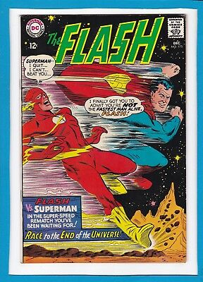 THE FLASH #175_DECEMBER 1967_FINE MINUS_2nd SUPERMAN/FLASH RACE_SILVER AGE DC!