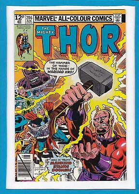 "Mighty Thor #286_August 1979_Nm Minus_""mayhem Under Manhattan""_Bronze Age Uk!"