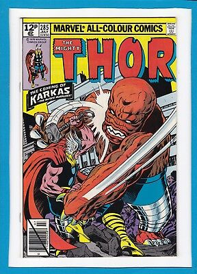 "Mighty Thor #285_July 1979_Vf/nm_""the Coming Of Karkas""_Bronze Age Marvel_Uk!"