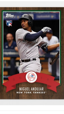 2018 Topps Holiday Advent Calendar Rookie Card Ny Yankees Miguel Andujar #9
