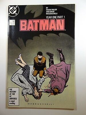 Batman #404 Year One part 1 Frank Miller and Mazz Classic Story!! NM- Condition!