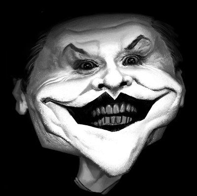 Joker  - Digital paint - ed. Limitée à 10 ex. Mathieu Alday