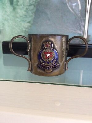 SS Cedric White Star Line Souvenier Cup And Post Card