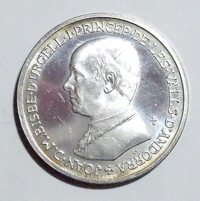 ANDORRA - Silver Medal 1980 - Urgell Bishopric Co-prince - UNC - NO RESERVE