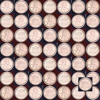 2018 P D Lincoln Shield Cent Mint Cello Penny Roll 50 US Coin Lot