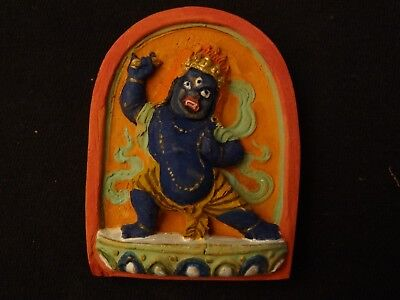 MONGOLIAN TIBETAN BUDDHIST HAND MADE CLAY TSA TSA of VAJRAPANI
