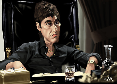 Scarface - Digital paint - ed. limitée à 10 ex-Mathieu Alday