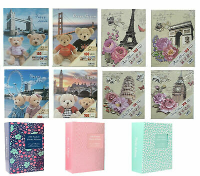6x4 Designer Photo Album with 100 Pockets NEW - Best Christmas Gift