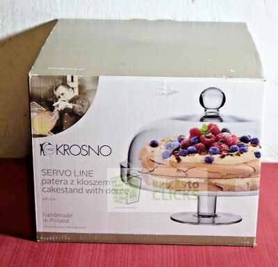 Krosno Handmade Cake Stand With Dome