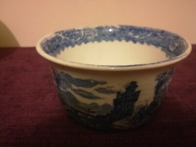 Mid 19 Century Blue And White Bowl  Loverly Chinese Pattern