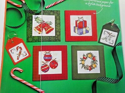 Vintage Style Christmas Motifs For Cards And Tags 6 Cross Stitch Chart